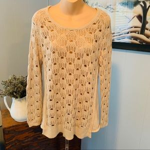 Beautiful ANTHROPOLOGIE cotton sweater!!